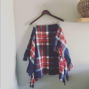 Vintage Fabio wool plaid Blanket